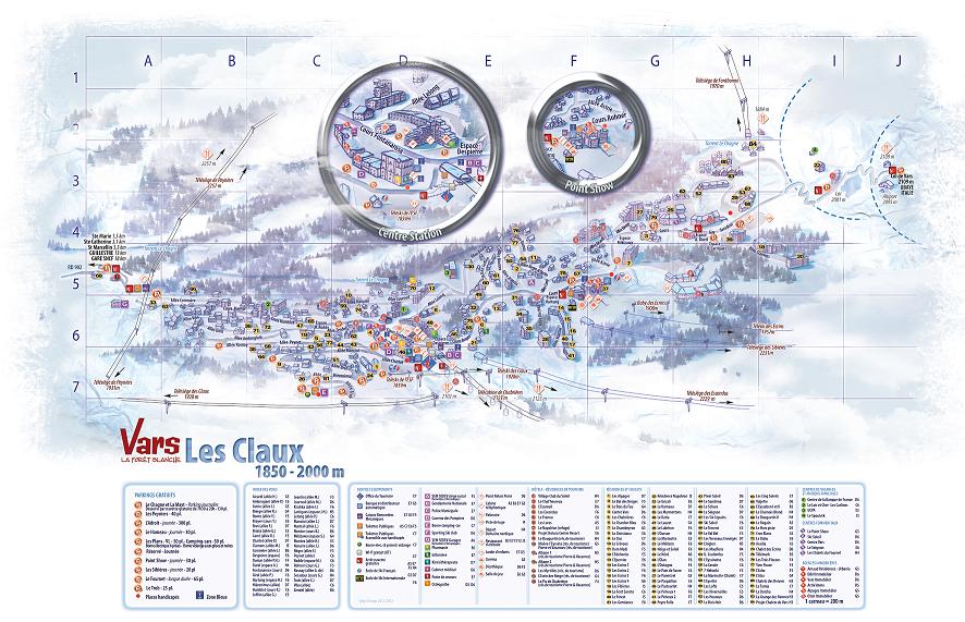 Plan de la station les Claux
